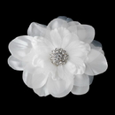 Elegance by Carbonneau Clip-426 Beautiful Crystal Accented Flower Hair Clip or Clip Brooch 426 White or Ivory