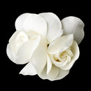 Elegance by Carbonneau Clip-427 Elegant Double Rose Flower Hair Clip 427 with Brooch Pin