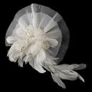 Elegance by Carbonneau Clip-471-Ivory Ivory Clip Fascinator 471