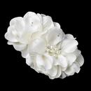 Elegance by Carbonneau Clip-9640-Ivory Ivory Pearl & Rhinestone Accent Bridal Flower Hair Clip 9640
