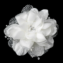 Elegance by Carbonneau Clip-9662 Crystal & Rhinestone Accent Flower Hair Clip 9662