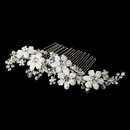 Elegance by Carbonneau Comb-037-S Silver Crystal Hair Comb 037