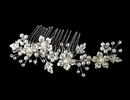 Elegance by Carbonneau Comb-039 Rhinestone & Pearl Bridal Comb 039