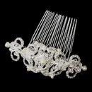Elegance by Carbonneau Comb-13088-S Victorian Crystal Accent Versatile Hair Piece 13088 Silver