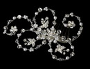 Elegance by Carbonneau Comb-1710-Silver-White Elegant Pearl & Crystal Hair Accent Comb 1710