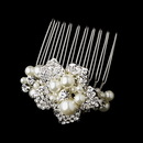Elegance by Carbonneau Comb-3473-Silver Silver Plated Bridal Comb 3473