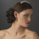 Elegance by Carbonneau Comb-354-S Stunning Swarovski Crystal and Pearl Bridal Comb 354