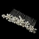 Elegance by Carbonneau Silver Freshwater Pearl, Rhinestone & Bugle bead Hair Comb 44
