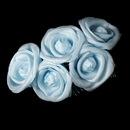Elegance by Carbonneau Comb-4647-Light-Blue Charming Light Blue Flower Bridal Hair Comb 4647