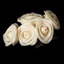 Elegance by Carbonneau Comb-4647-lt-Gold Charming Gold Flower Bridal Hair Comb 4647