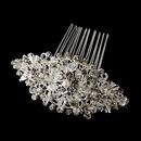 Elegance by Carbonneau Comb-585 Vintage Crystal, Rhinestone & Pearl Bridal Comb 585 ( Antique Silver or Silver )