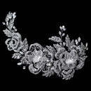 Elegance by Carbonneau Comb-6449-RD-CL Rhodium Clear Rhinestone Floral Rose Side Accented Comb
