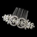 Elegance by Carbonneau Antique Silver Rhodium Clear Rhinestone & Freshwater Pearl Comb 652
