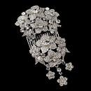 Elegance by Carbonneau Comb-6545 Vintage Silver Clear Rhinestone Bridal Hair Comb 6545