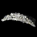 Elegance by Carbonneau Comb-7001- Beautiful Pearl & Crystal Bridal Comb 7001