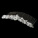 Elegance by Carbonneau Comb-7002 Pearl & Crystal Bridal Comb 7002