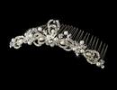 Elegance by Carbonneau Comb-7064 Pearl & Rhinestone Bridal Comb 7064