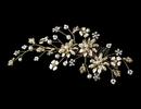 Elegance by Carbonneau Comb-7096-G Elegant Floral Pearl Vine Hair Comb 7096 Gold