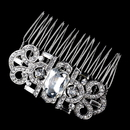 Elegance by Carbonneau Comb-70990-AS-Clear Antique Silver Rhinestone Comb 70990