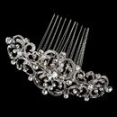 Elegance by Carbonneau Comb-722-RD-CL Rhodium Clear Rhinestone Art Deco Swirl Hair Comb 722