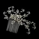Elegance by Carbonneau Swarovski Crystal Bead & Rhinestone Hair Comb in Antique Silver 754
