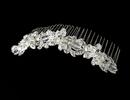 Elegance by Carbonneau Comb-7810-Silver Silver Clear Swarovski Crystal Bridal Comb 7810