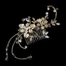 Elegance by Carbonneau Comb-8153-gold Gold Headpiece Comb 8153