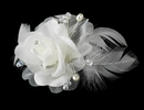 Elegance by Carbonneau Comb-8210 Floral Feather Bridal Hair Accent Comb 8210