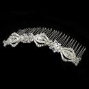 Elegance by Carbonneau Comb-8272 Magnificent Silver Bridal Comb w/ Rhinestones & Swarovski Crystals 8272