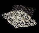 Elegance by Carbonneau Comb-8356 Antique Silver Clear Vintage Rhinestone Bridal Hair Comb 8356