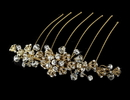 Elegance by Carbonneau Comb-8838-G Exquisite Gold Bridal Hair Comb w/ Rhinestones & Swarovski Crystals 8838