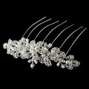 Elegance by Carbonneau Comb-8911 Elegant Silver or Gold Bridal Hair Comb w/ Pearls & Rhinestones 8911