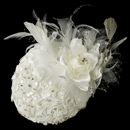 Elegance by Carbonneau Comb-909 Extraordinary Ivory Flower & Feather Hat Headpiece Comb 909