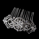 Elegance by Carbonneau Comb-934-A-Clear Antique Silver Crystal Bridal Hair Comb 934