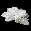Elegance by Carbonneau Comb-9648 Silver Ivory Pearl & Rhinestone Accent Hair Comb 9648