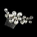 Elegance by Carbonneau Comb-9795 Glamorous Silver Clear Rhinestone Hair Comb 9795