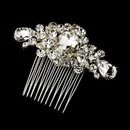 Elegance by Carbonneau Comb-9803 Exquisite Silver Clear Crystal Hair Comb 9803