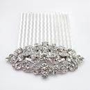 Elegance by Carbonneau Comb-9932-AS-Clear Rhodium Silver Vintage Rhinestone Bridal Hair Comb 9932