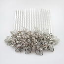 Elegance by Carbonneau Comb-9934-AS-Clear Rhodium Silver Rhinestone Vintage Comb 9934