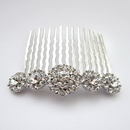 Elegance by Carbonneau Comb-9948-AS-Clear Rhodium Silver Clear Rhinestone Vintage Comb 9948