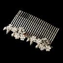 Elegance by Carbonneau Comb-9954 Charming Antique Silver Floral Hair Comb 9954