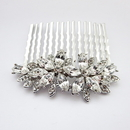 Elegance by Carbonneau Comb-9955-AS-Clear Rhodium Silver Marquise Rhinestone Vintage Comb 9955