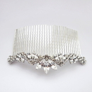 Elegance by Carbonneau Comb-9959-AS-Clear Rhodium Silver Vintage Comb 9959