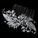 Elegance by Carbonneau Comb-9981-Antique-Silver Vintage Bridal Hair Comb 9981 Antique Silver