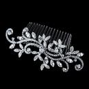 Elegance by Carbonneau Comb-9982-Antique-Silver Vintage Bridal Antique Silver Wedding Comb 9982
