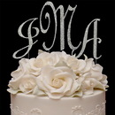 Elegance by Carbonneau Covered-Monogram-Set Completely Covered ~ Swarovski Crystal Monogram Cake Topper Set