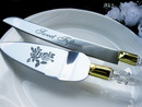 Elegance by Carbonneau CS-15 Sweet Fifteen Cake Server Set - Acrylic Handle with Gold Accent CS 15