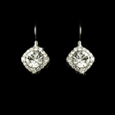 Elegance by Carbonneau E-1003-Silver-Clear Earring 1003 Silver Clear