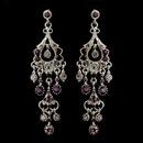 Elegance by Carbonneau E-1028-AS-Amethyst Antique Silver Amethyst AB Crystal Chandelier Bridal Earrings 1028