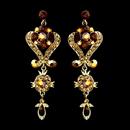 Elegance by Carbonneau e-1031-gold-lt-colorado Gold Brown Multi Crystal Chandelier Earrings 1031
